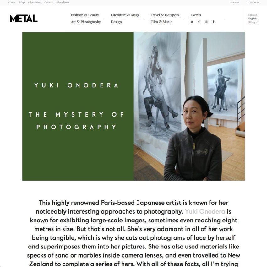 Yuki Onodera The Mystery Of Photography : Metal Magazine